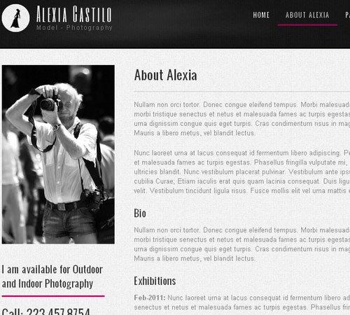 Alexia Castillo - Model Photography WP CMS