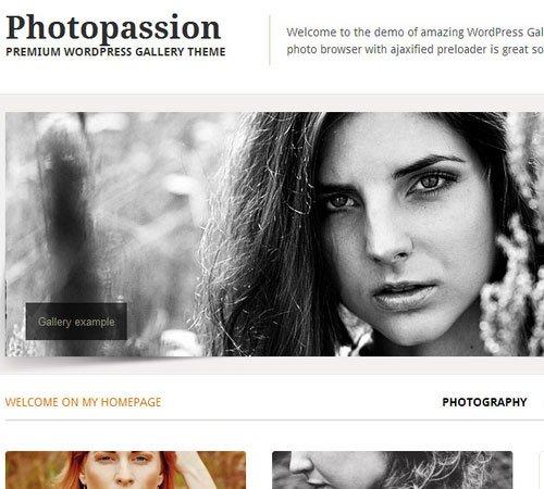 Photopassion - WordPress Gallery Theme