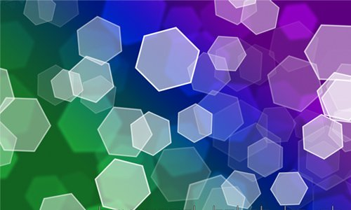 Hexagonal Bokeh Brush