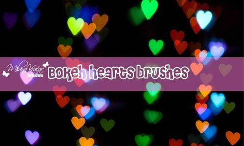Bokeh Heart Brush Pack by Milana V.