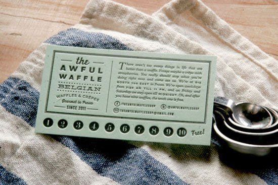 The Awful Waffle Business Card Inspiration