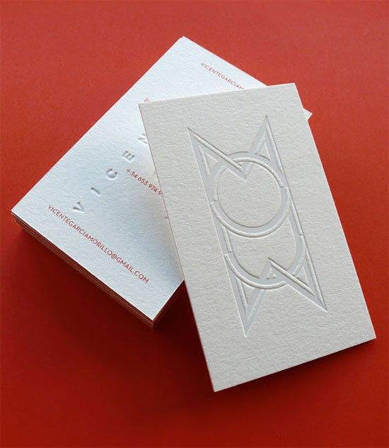 Vicente García Morillo Business Card Inspiration