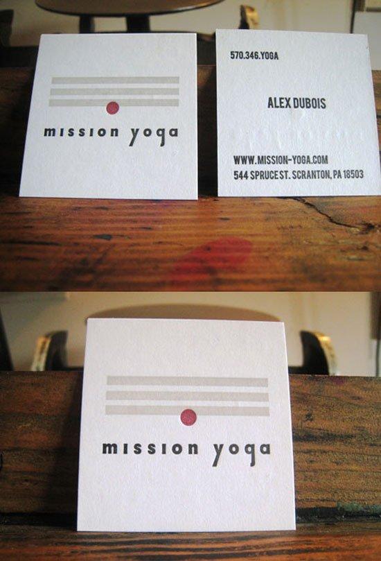 Mission Yoga Business Card Inspiration