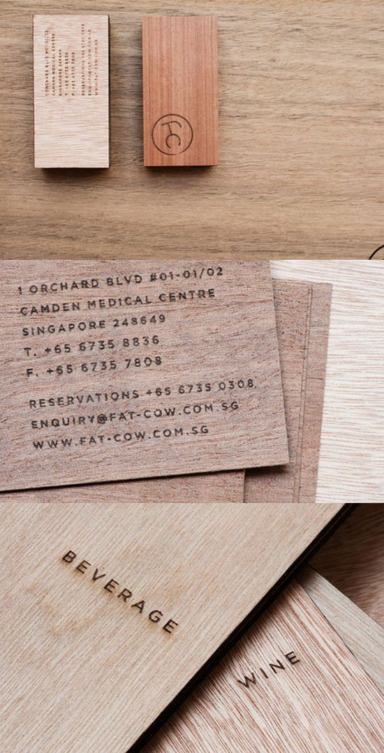 Fat Cow Business Card Inspiration