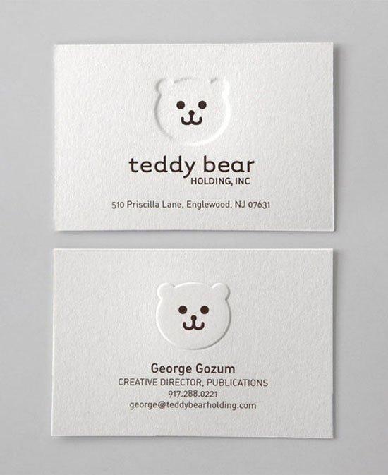 Teddy Bear Business Card Inspiration