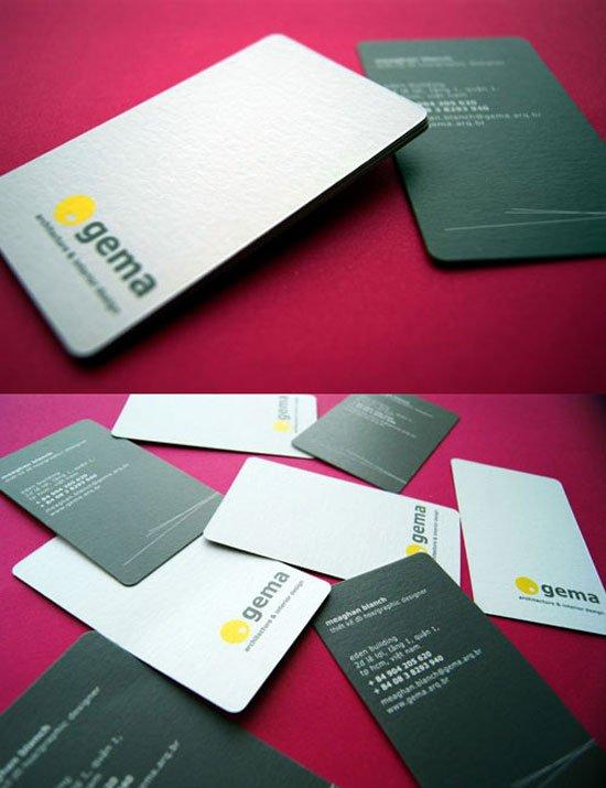 Gema Architecture & Interior Design Business Card Inspiration