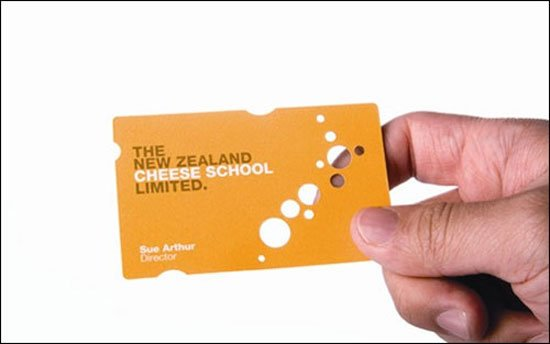 The New Zealand Cheese School Business Card Inspiration