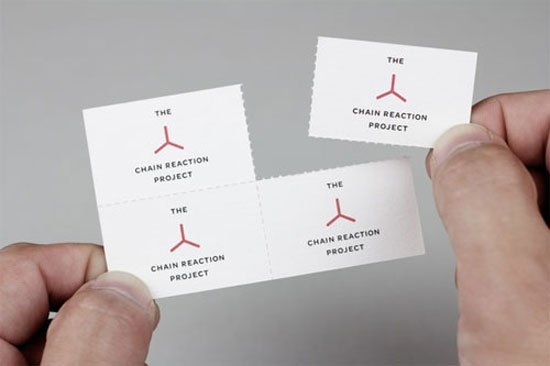 The Chain Reaction Project Business Card Inspiration