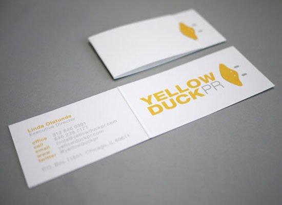 Yellow Duck Business Card Inspiration