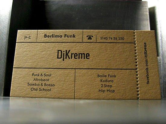 DJ Kreme Business Card Inspiration
