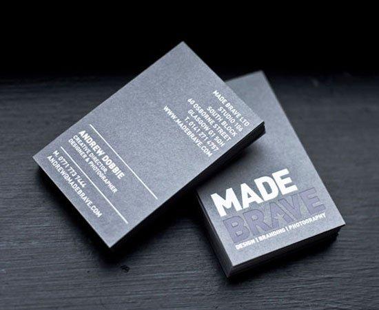MadeBrave Business Card Inspiration