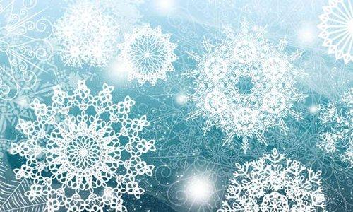 Photoshop: Brushes Snowflakes