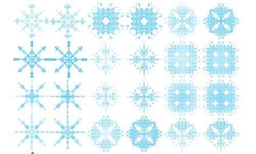 24 Snowflake Brushes