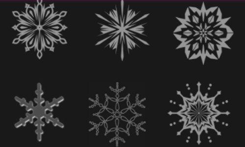 Photoshop Snowflake Brushes