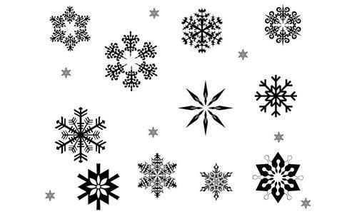 Snowflake Brushes