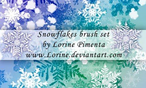 Snow Flakes brush set