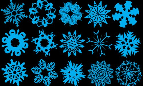 PS7 - 96 Snowflake Brushes
