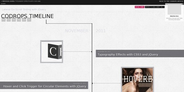15个时间轴/视差滚动的网页设计