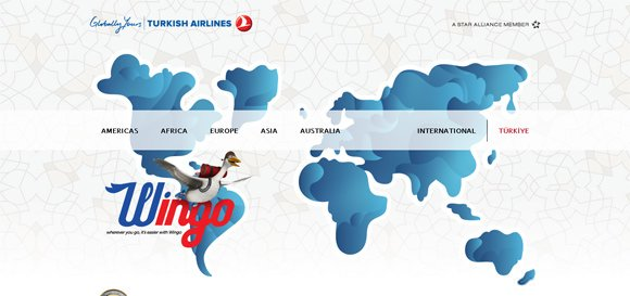 30个优秀的航空公司网站设计
