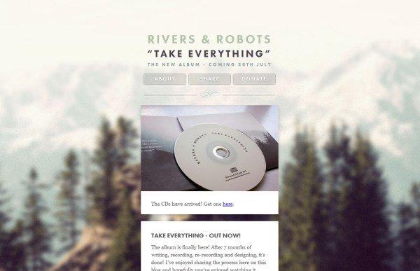 使用模糊背景的网页设计