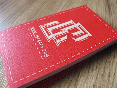 设计达人 - 27张红色风格名片设计