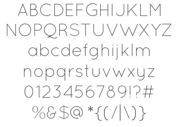 56个珍贵的免费英文字体
