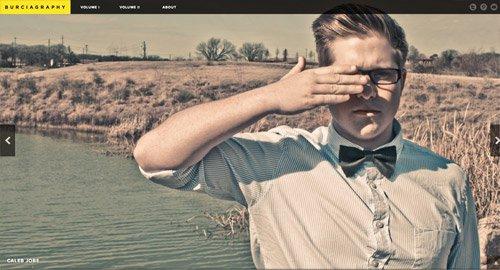 使用复古照片的网页设计