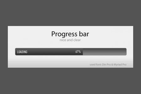 设计达人 - loading进度条PSD UI素材