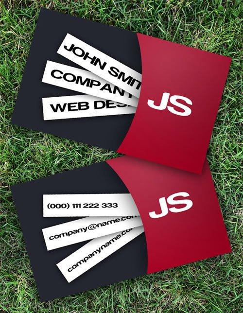 漂亮的商业名片PSD模板