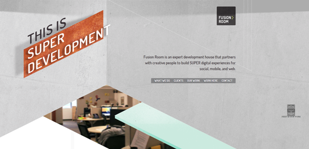 设计达人 - 几何形状布局排版的优秀网页设计
