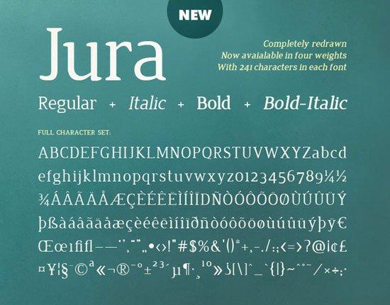 Jura免费字体下载 - 设计达人网