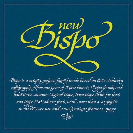 Bispo 免费字体下载 - 设计达人网