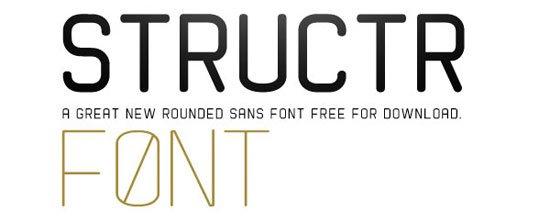 STRUCTR 免费字体下载 - 设计达人网