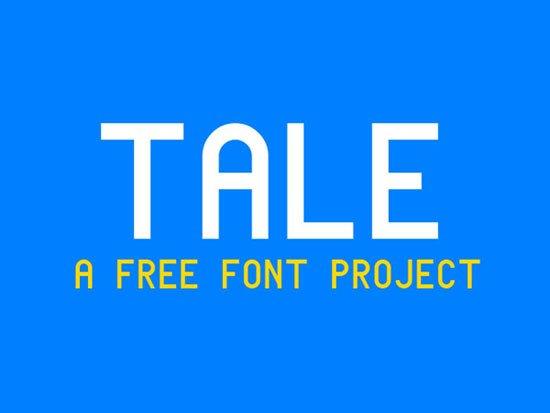 Tale 免费字体下载 - 设计达人网