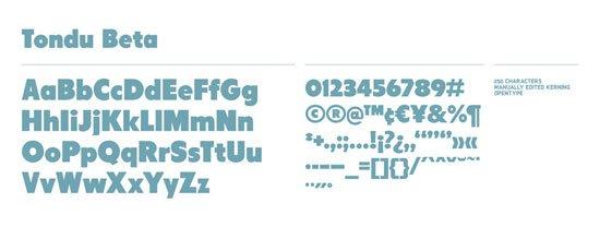 Tondu 免费字体下载 - 设计达人网