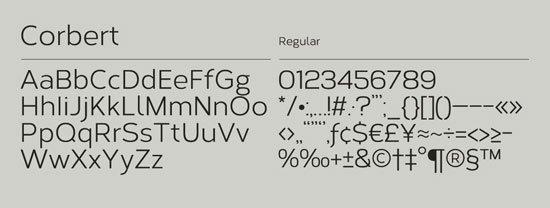 Corbert 免费字体下载 - 设计达人网