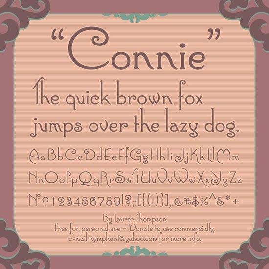 connie 免费字体下载 - 设计达人网