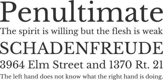 Libre Baskerville 免费字体下载 - 设计达人网