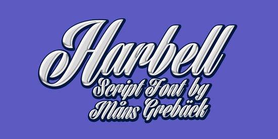 Harbell 免费字体下载 - 设计达人网