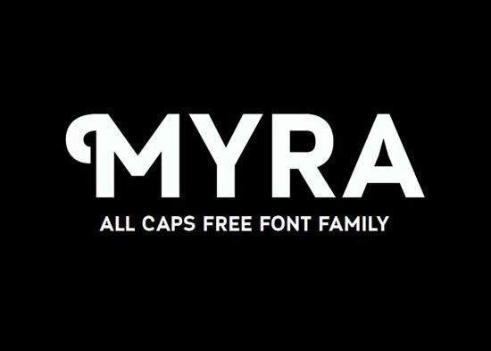 Myra 免费字体下载 - 设计达人网