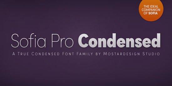 Sofia Pro Condensed 免费字体下载 - 设计达人网