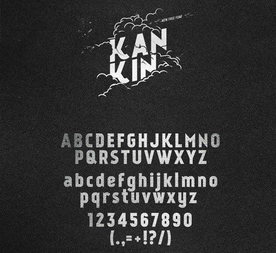 KanKin 免费字体下载 - 设计达人网