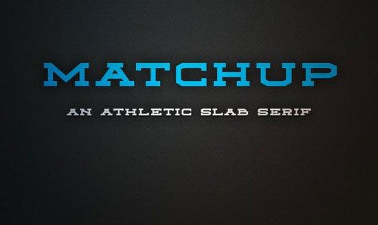 Matchup 免费字体下载 - 设计达人网