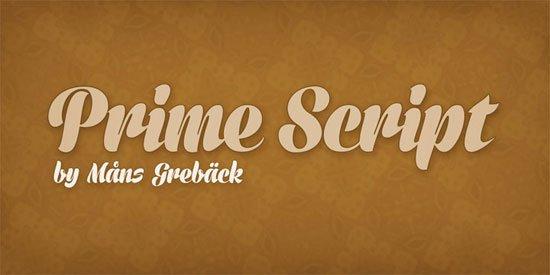 Prime Script 免费字体下载 - 设计达人网