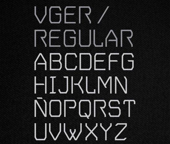 V.GER Grotesque 免费字体下载 - 设计达人网