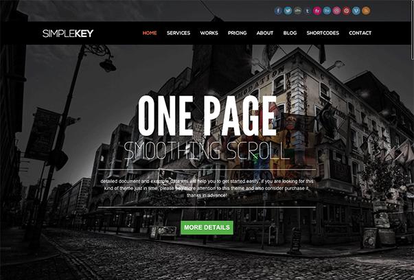 SimpleKey WordPress的主题