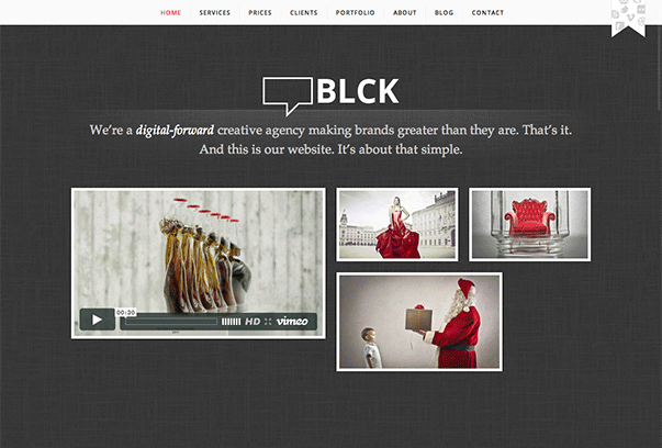 BLCK WordPress的主题