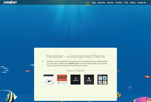 Parallaxr WordPress的主题