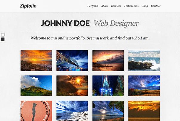 Zipfolio WordPress的主题