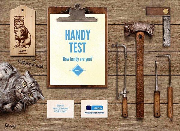 Handy test in Showcase of 创意漂亮的单页网站 - by 设计达人网